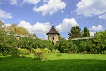 Moldovita Monastery - Innenhof des Klosters