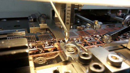 bonding machine on production line