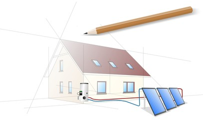 house green energy flat plate collector1