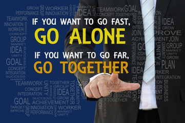 Teamwork motto business concept