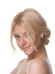 Smiling women with blond hair