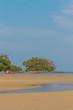 Leinwanddruck Bild - phuket nai yang beach at low tide