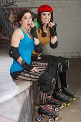 Startled Roller Derby Women