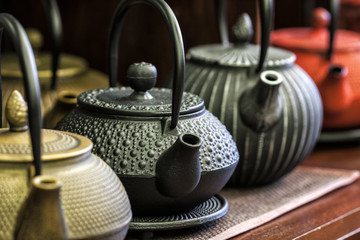 Iron Chinese teapots.