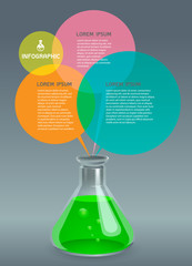 Chemical Science Bottle Vector Illustration