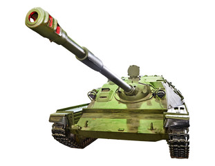 Self-propelled gun SU-85. Isolated