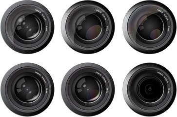 Camera photo lens  vector
