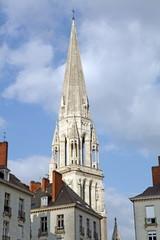 Saint Nicholas church, Nantes city, France, Loire Atlantique