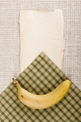 Banana and old paper