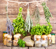 various fresh and dried herbs - 70518876