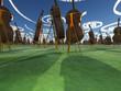 Fantasy Landscape with Cello