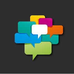 étiquette-bulle de dialogue