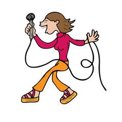 Singer dancing