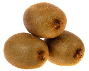 Green kiwi fruit closeup