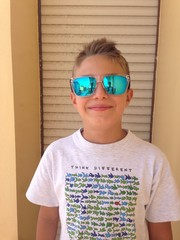 Selfie through sunglasses