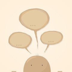 Cartoon speech bubbles idea design