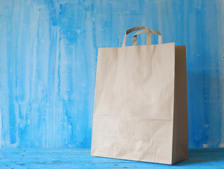 Empty Shopping Bag on grungy background for advertising and bran