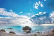 Leinwanddruck Bild - The famous Kathisma beach in Lefkada