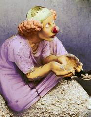 alte Clown Figur
