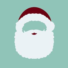 Santa Claus mask, add face, vector