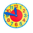 beautiful colorful clock dial clock-face on white