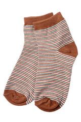 Pair of child's striped socks