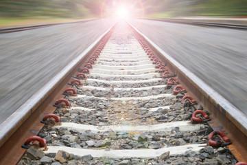 Railway in motion blur