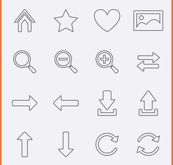 Web Navigation Icons. Vector