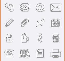 Office Icons. Vector