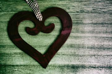 Herz, rot,,rustikal