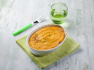 quiche with carrots and cheese