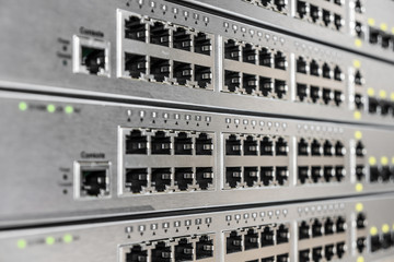 Ethernet interface ports of network equipment