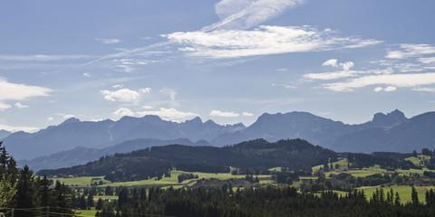 Panoramablick Tannheimer Berge
