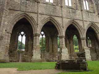 Ruins of Tintern Abbey from the 12th C. in Wales