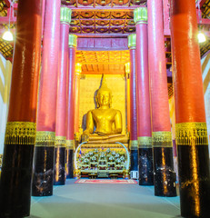 Seated Buddha Image in Temple