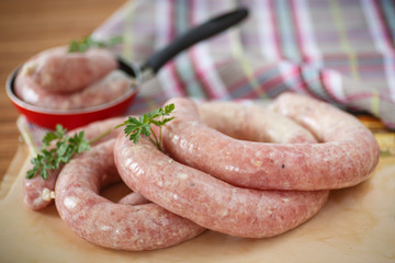 home-made sausage