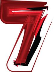 Artistic font number 7