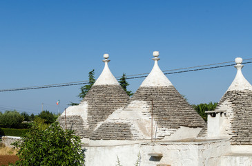 Conical roofs of Alberobello, Apulia - Italy