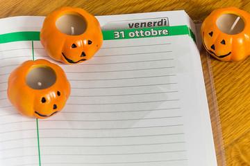 Halloween on the calendar