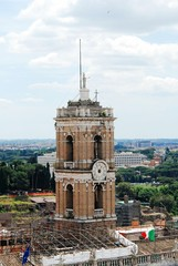 View from Vittorio Emmanuele monument to the Rome city