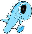 Cute Happy Dinosaur Vector Illustration Art