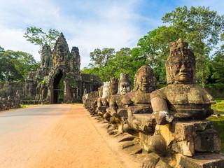 Gate guardians, Angkor tom(south gate), Cambodia