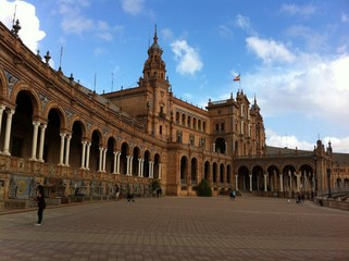 Palast am Plaza de España in Sevilla