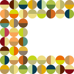 Colorful dots frame