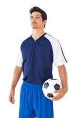 Serious football player