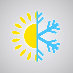 Hot and Cold Temperature Icon