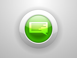 3d Vector illustration of chatting icon