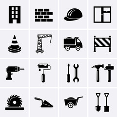 Building, construction and tools icons