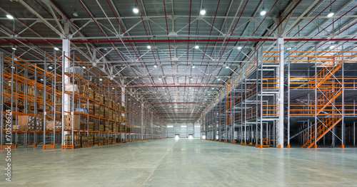 Fotobehang Industrial geb. A big storage room