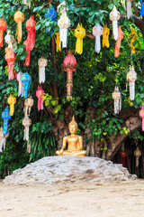 Buddha at Wat Phan Tao temple in Chiangmai province of Thailand